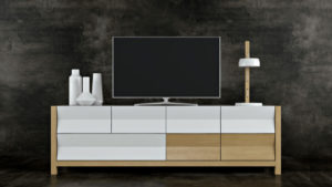 3D Model of a Stylish TV Stand: Geometrical Design View01