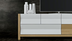 3D Model of a Stylish TV Stand: Geometrical Design View05