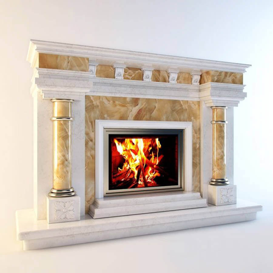 Fireplace 3D modeling