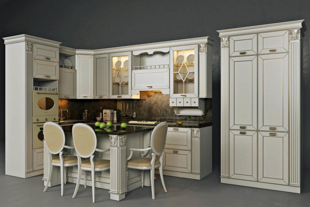 kitchen photorealistic 3d rendering