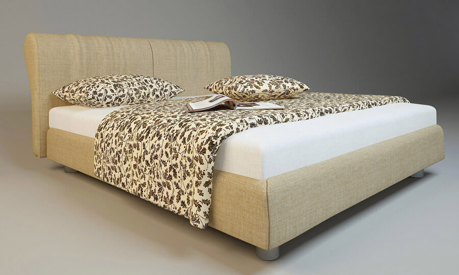 Professional 3D Model of a Bed for a Comfy Look