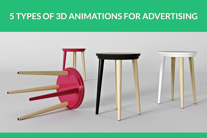 Stool Models for a 3D Animation Commercial