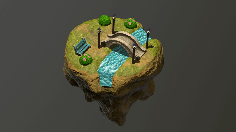 Low-Poly Modeling for Game Development: Green Island