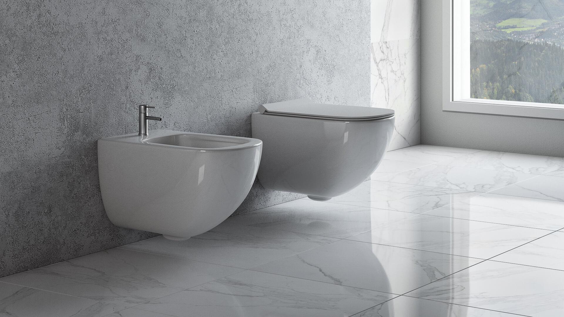 Sanitary Ware 3D Models in a Photorealistic Bathroom Scene