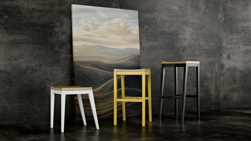 Photorealistic 3D Rendering for Dining Furniture in an Artsy Interior