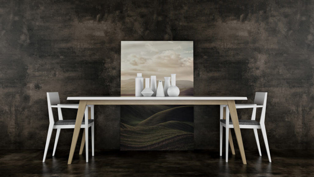 Photorealistic 3D Rendering for Dining Furniture in a Roomset