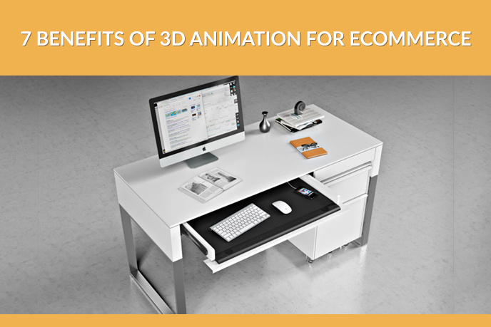 Computer Desk 3D Model for Digital Product Promotion