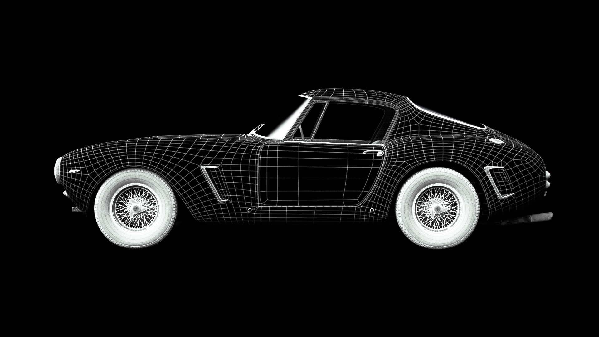 grid of car 3d model