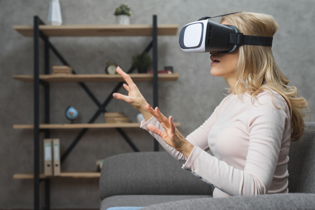 virtual  Augmented mixed reality product marketing