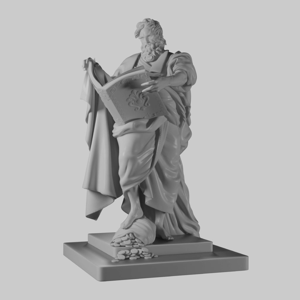 3D Solid Modeling for a Statue