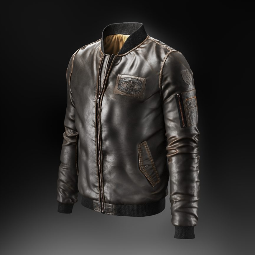 Product 3D Visualization for a Leather Jacket