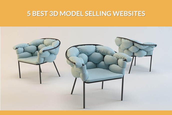 Photorealistic Chairs From 3D Model Selling Websites
