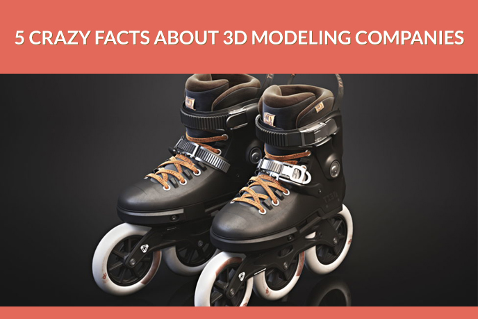 3D Product Modeling for Black Roller Skates