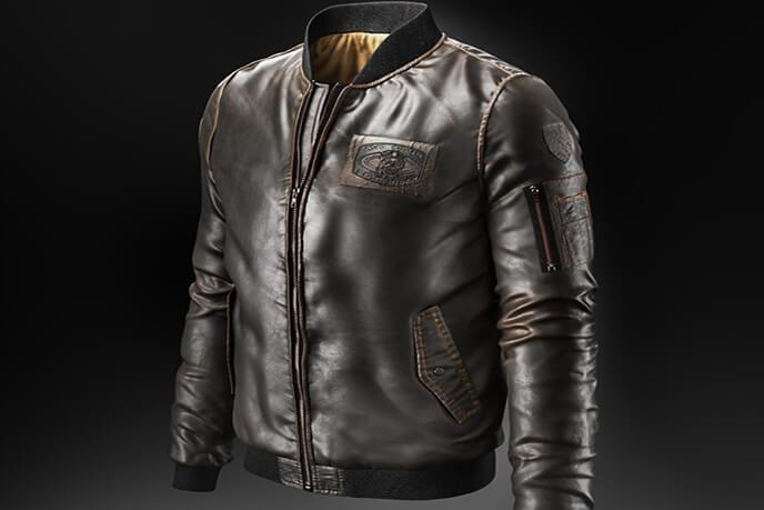 Professional 3D Modelling For A Designer Leather Jacket