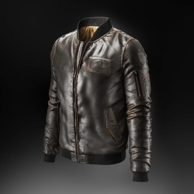 3D Model of a Leather Jacket