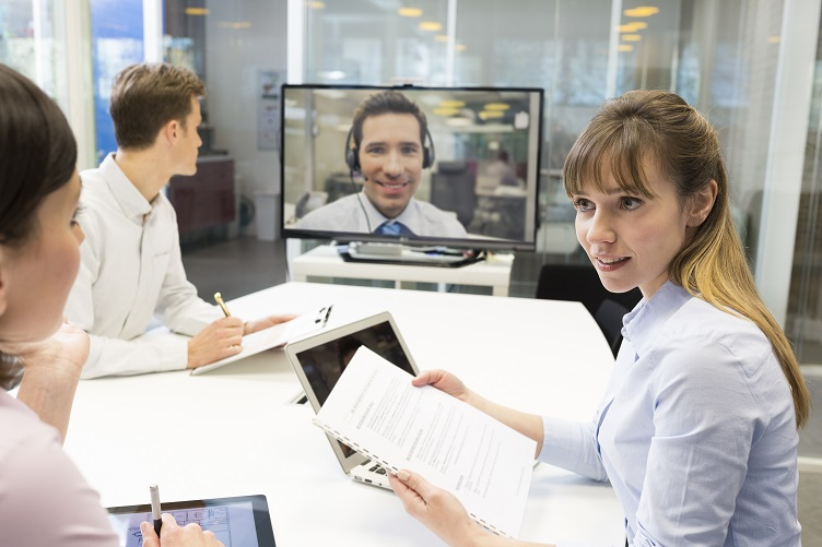 A Skype Conference with a Customer in a 3D Rendering Firm