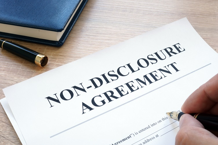A Customer Signing a Non-disclosure Agreement with a CGI Company