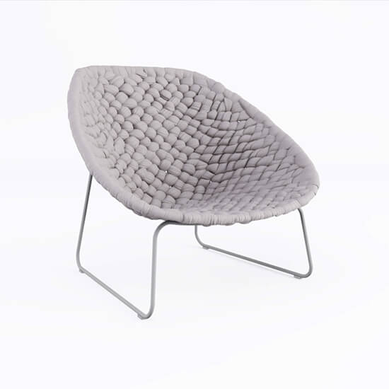 Photoreal 3D Model Of A Comfortable Cloth Chair