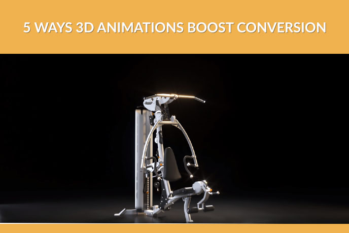 Photoreal 3D Model Of A High-End Workout Machine