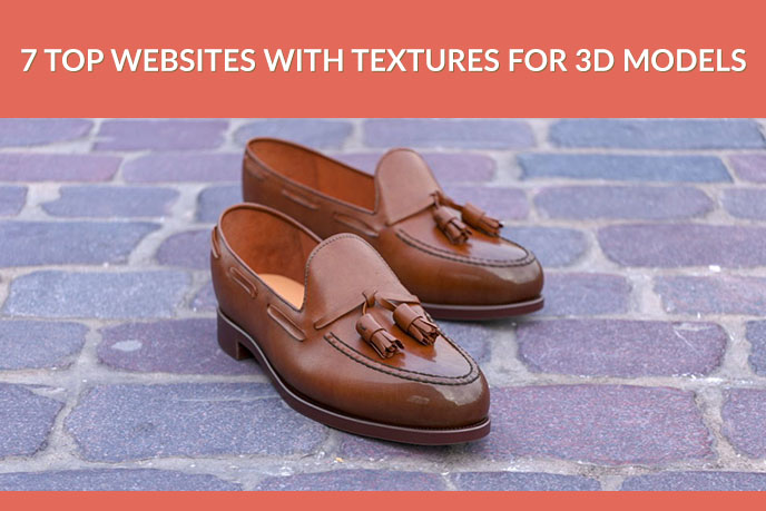 Photoreal 3D Model Of Leather Shoes On A Pavement
