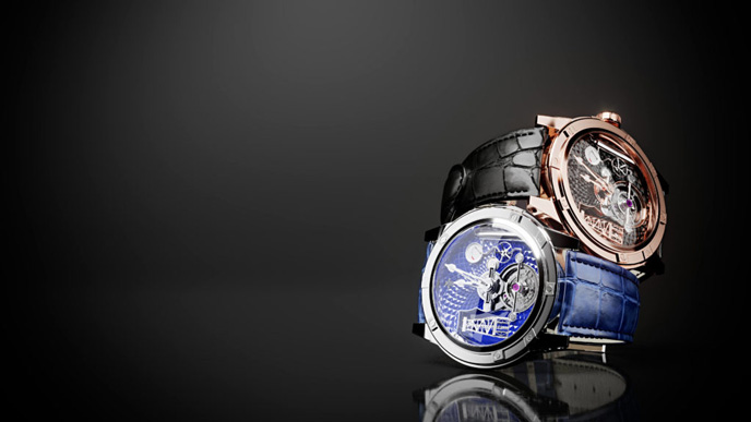3D Watches Colorways for Instagram Marketing