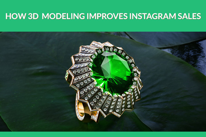 3D Jewelry Modeling for an Instagram Marketing Campaign