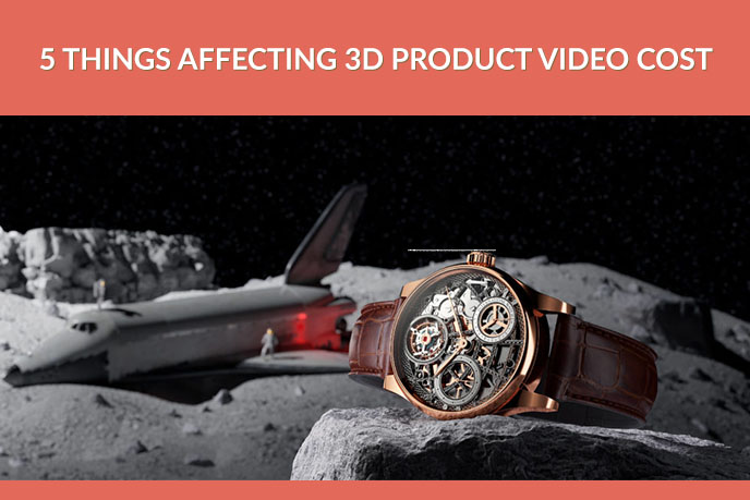 3D Lifestyle Rendering Of A Watch On The Moon
