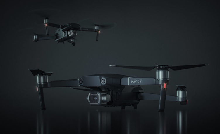 3D Product Model Of A Flying Camera Drone