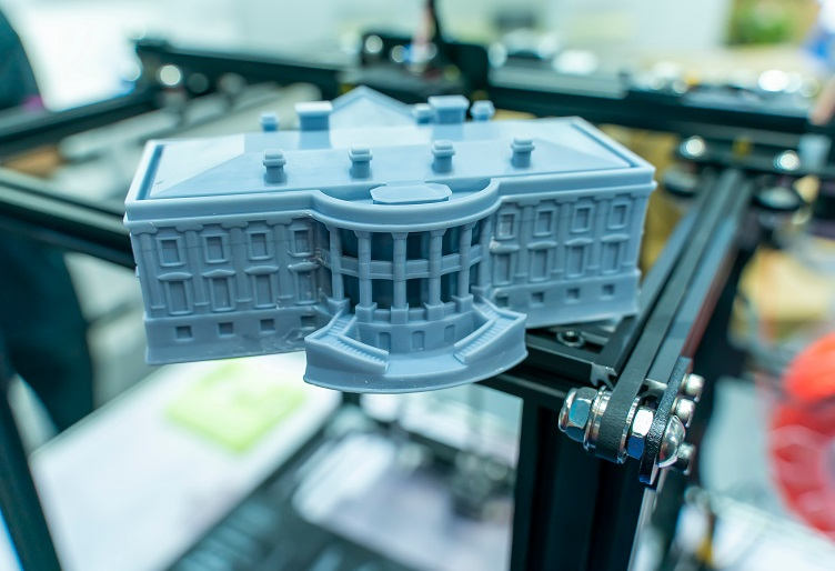 3D-Printed Scaled-Down Model of a Building