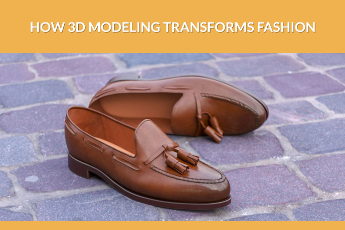 Clothes 3D Modeling: a Pair of Leather Shoes
