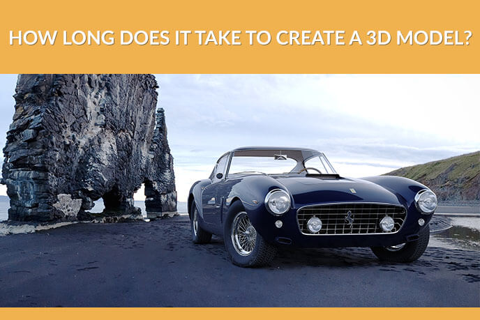 3D Photoreal Visualization Of A Car On A Shore