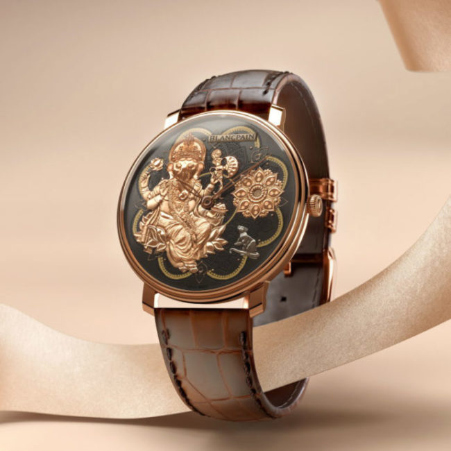 3D Photoreal Visualization Of A Golden Watch With A Relief