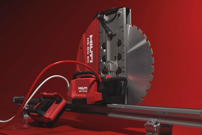 3D Photoreal Visualization Of A Red Steel Circular Saw