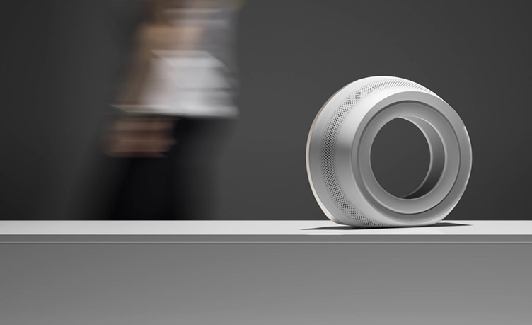 Photoreal 3D Model Of A White Speaker