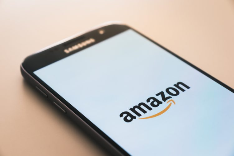 A Smartphone with Amazon Marketplace Opened