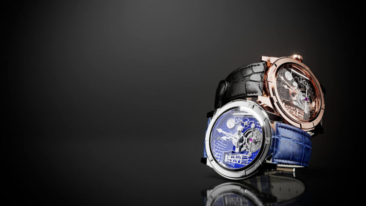CG Image Showing a Pair of Stylish Hand Watches