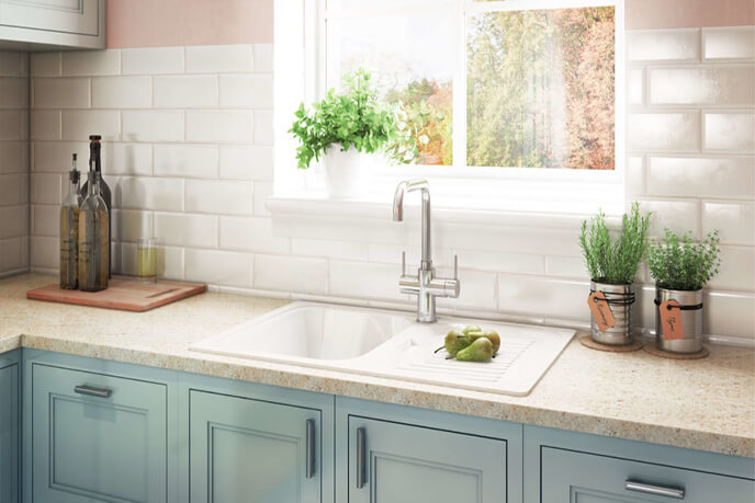Photoreal Lifestyle Visualization Of A Kitchen Sink