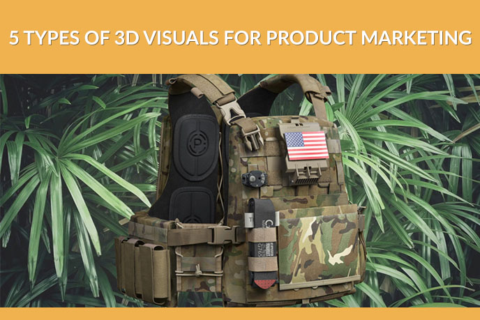 Lifestyle 3D Visualization of an Army Backpack