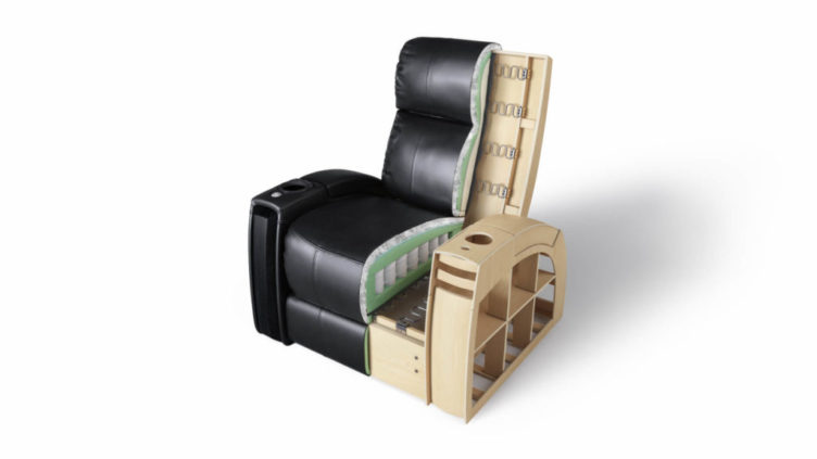 3D Visualization of an Armchair in Section