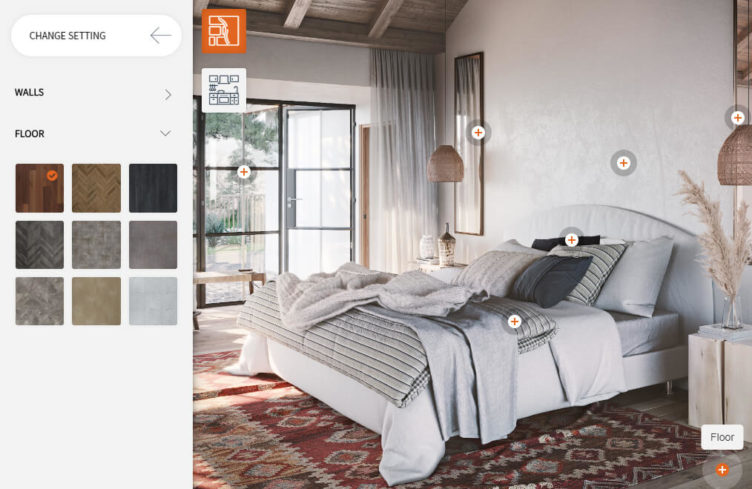 3D Visualizer of Bedroom Design for an Online Store