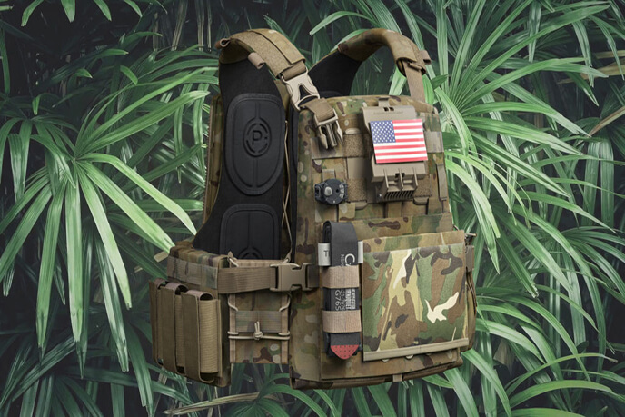 3D Rendering Of A Body Armor Design In Jungle Setting