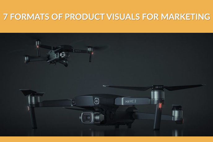 3D Product Image of an Aerial Camera Drone