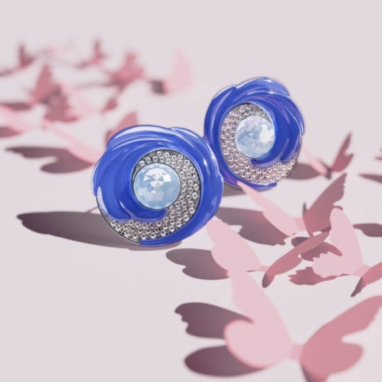 3D Visualization of Beautiful Earrings with Gems