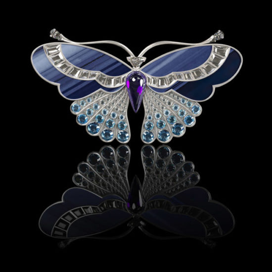 3D Visualization of an Elegant Brooch in the Form of Butterfly