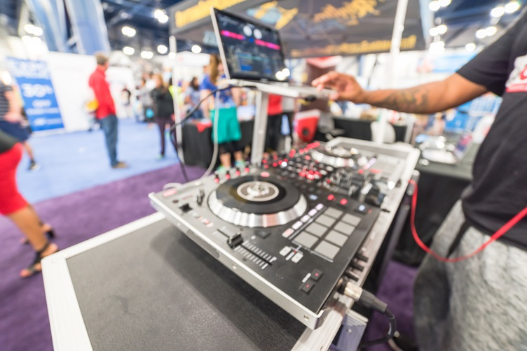 DJ Performing At An Expo