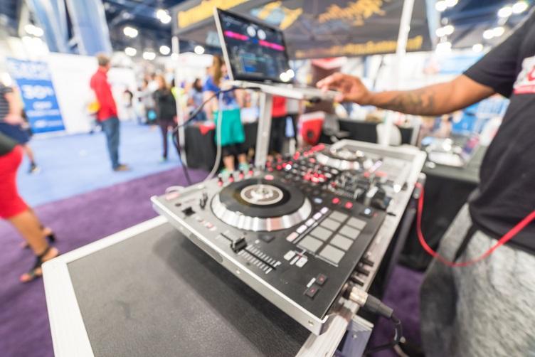 DJ Performing At An Expo