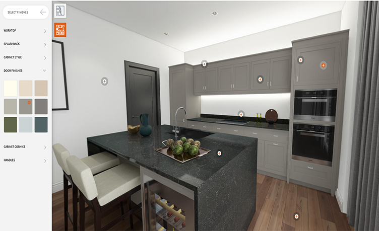 Customizable 3D Visualization of a Kitchen