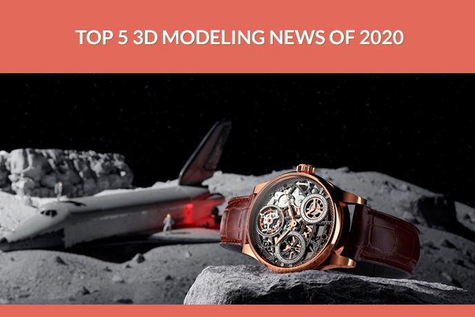 3D Product Model of a High-End Watch in Space Setting