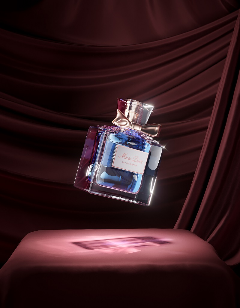 3D Model of a Bottle for Perfumes in Lifestyle Setting