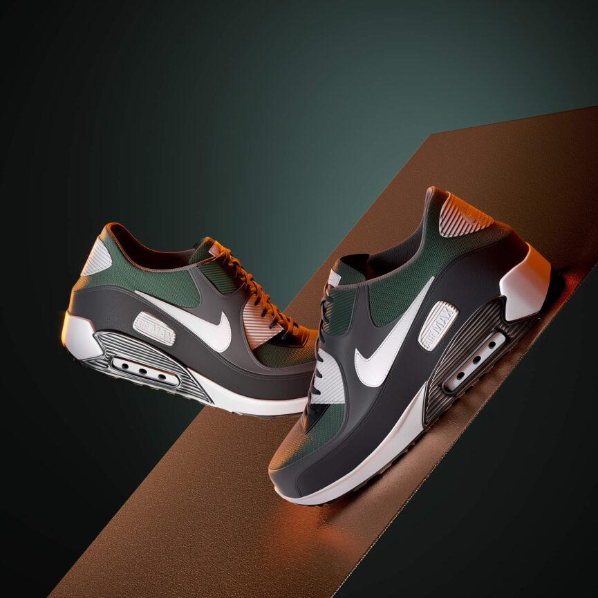 3D Models of a Pair of Sneakers
